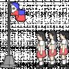 illustration of girls singing the national anthem