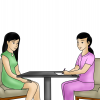 a meeting with an expert or professional, such as a medical doctor, in order to seek advice